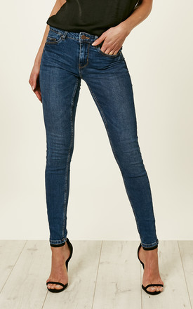 Medium Blue Denim Skinny Jeans by Pieces Product photo