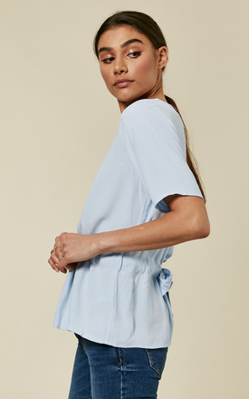 Skyway Short Sleeve Oversized Top With Tie Waist by Selected Femme