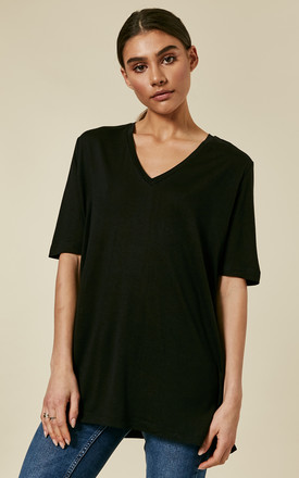 Black V Neck Tee by Selected Femme Product photo