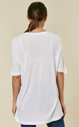 Bright White V-Neck Tee by Selected Femme
