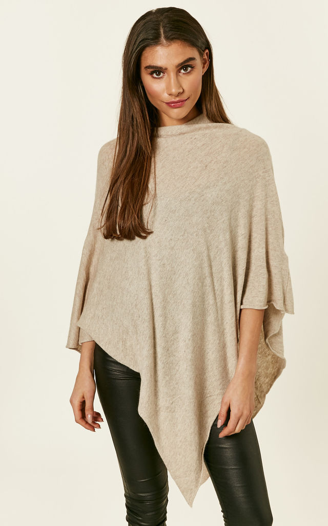Sand Wool Poncho by Pieces