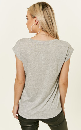 Light Grey Melange Tee by Pieces