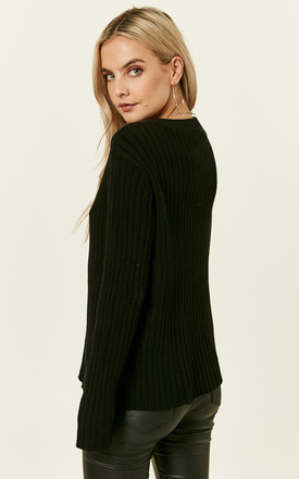 Black Long Sleeved Over Sized Jumper by VM
