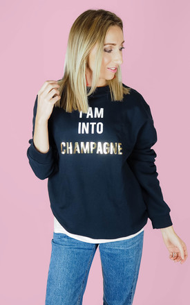 I Am Into Champagne Sweater by Rock On Ruby