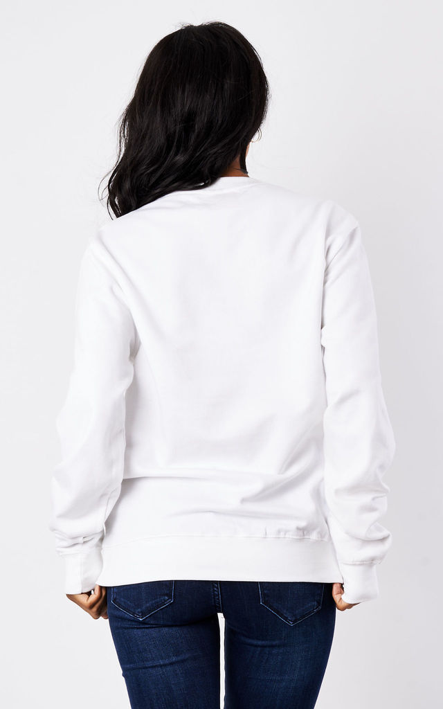 'Who gave me Gin?' Sweater in White by Rock On Ruby