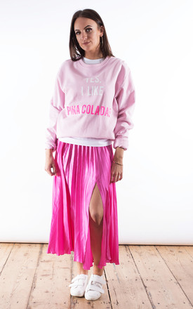 Yes I Like Pina Coladas Sweater Pink by Rock On Ruby