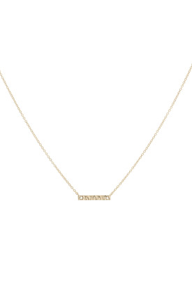 Battered bar necklace gold by House Thirteen