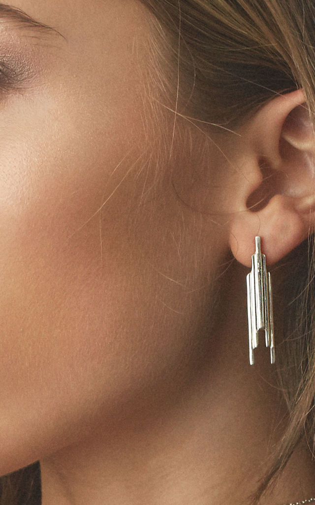 Stack earrings silver by House Thirteen