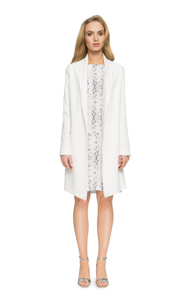 Longline jacket in white by MOE