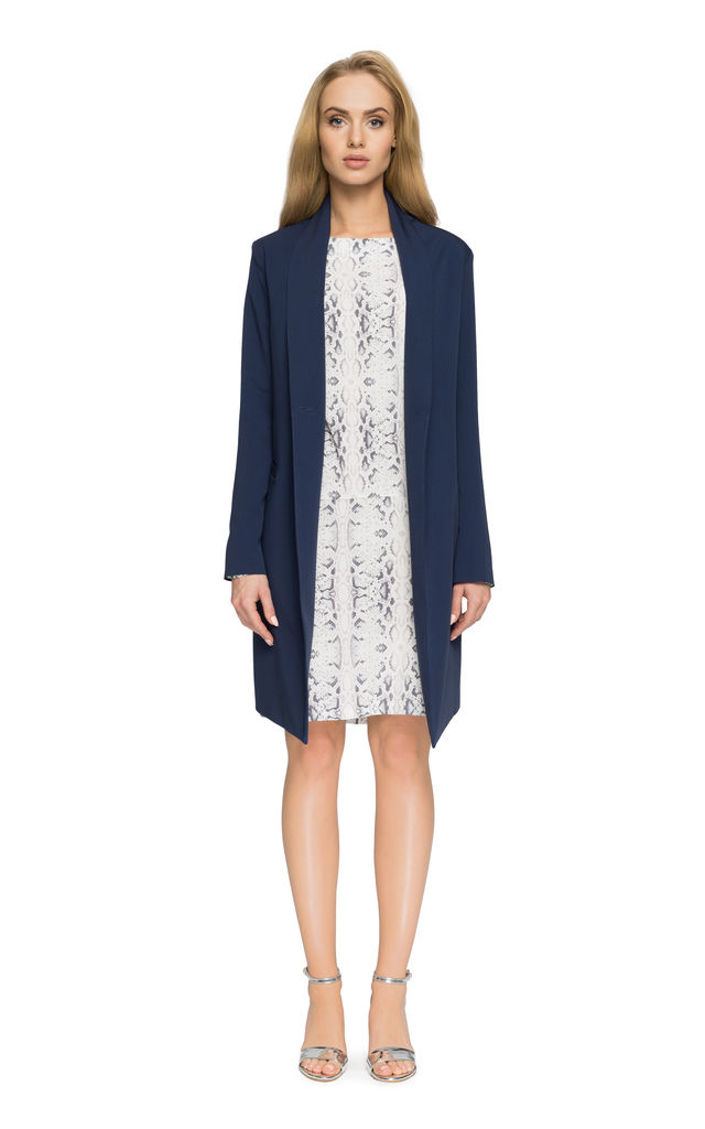 Navy blue slightly oversized blazer jacket by MOE