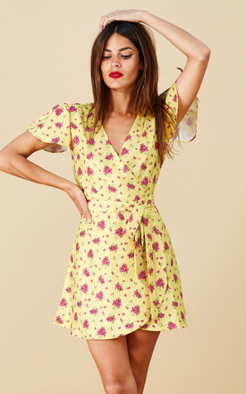 Mae Dress In Mustard Daisy by Dancing Leopard Product photo