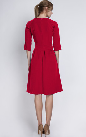 Red Line Midi Dress by Lanti