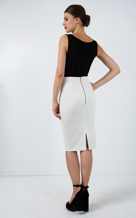 Fitted Stretch Pencil Skirt by Conquista Fashion