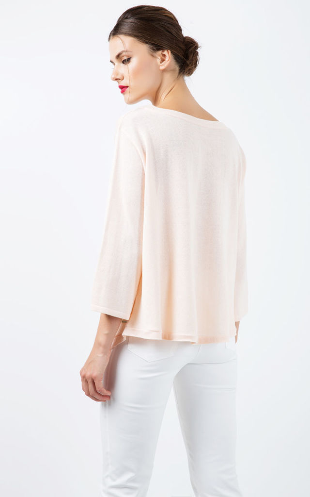 Knit Cotton Top with an Uneven Hemline by Conquista Fashion