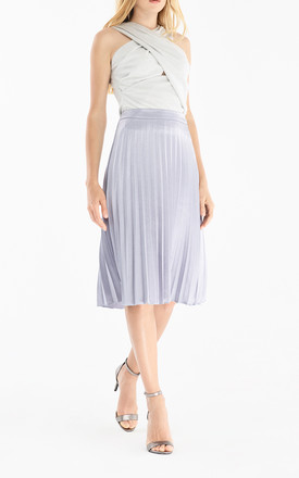 Pleated skirt in light blue by Paisie