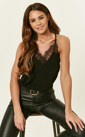 Black Lace Cami Top by VM Product photo