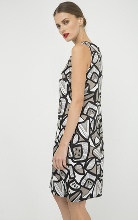 A Line Pleat Detail Print Dress by Conquista Fashion