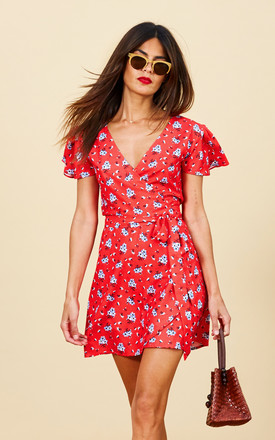 Mae Dress In Red Daisy by Dancing Leopard Product photo