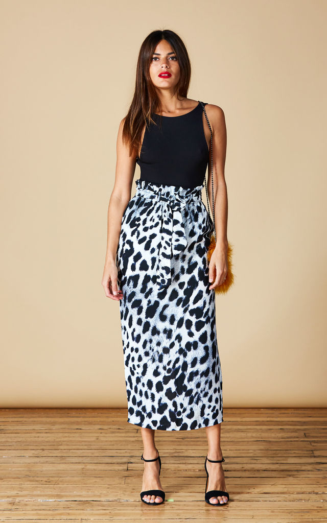WILLOW SKIRT IN GREY LEOPARD image