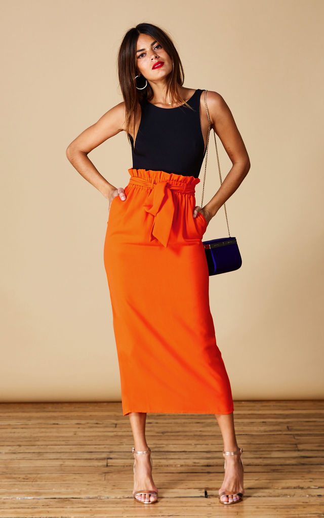 WILLOW SKIRT IN SUNSHINE ORANGE image