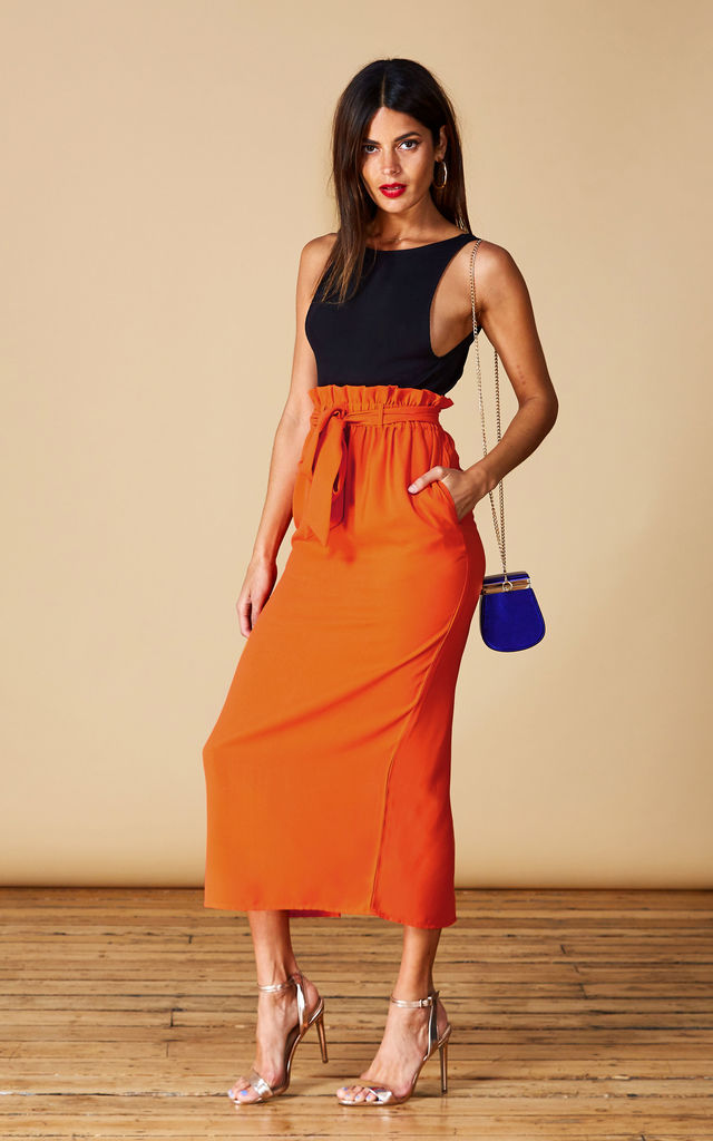 WILLOW SKIRT IN SUNSHINE ORANGE by Dancing Leopard