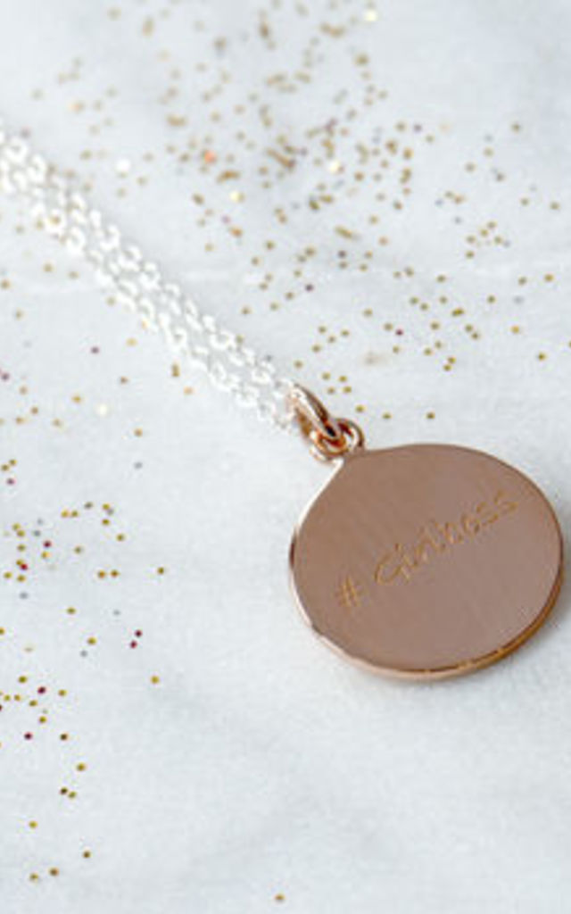 Girlboss Rose Gold Necklace by Grace and Valour