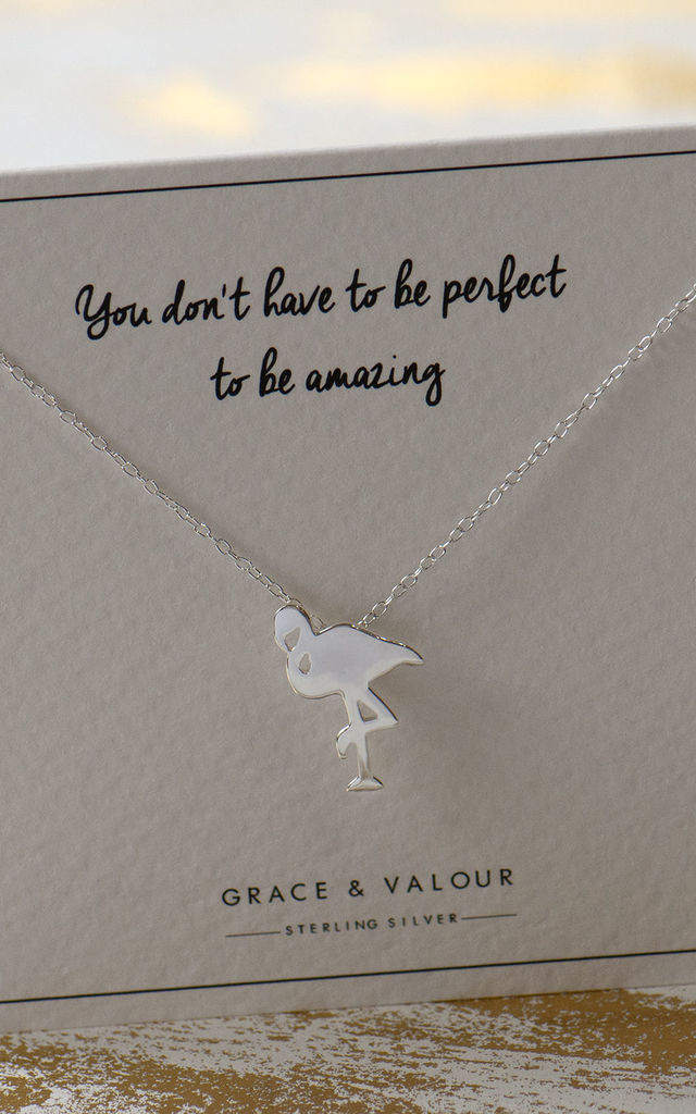 Flamingo Sterling Silver Necklace by Grace and Valour