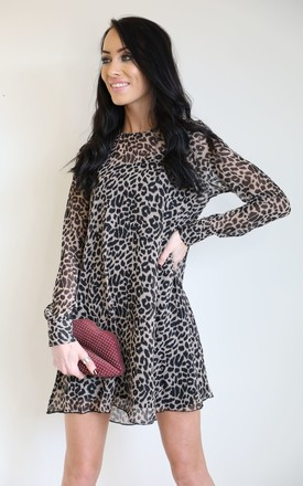 Leopard Chiffon Swing Dress by Wired Angel Product photo