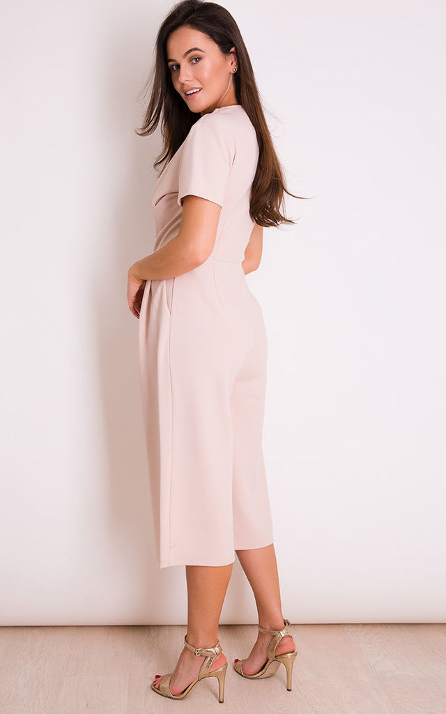 a33eb9058ecb Megan Short Sleeve Culotte Jumpsuit Nude by Girl In Mind