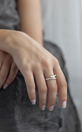Sterling Silver Adjustable Twig Ring by Martha Jackson Jewellery