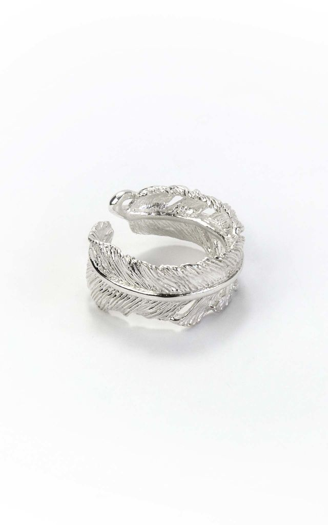 Sterling Silver Feather Ring by Martha Jackson Jewellery