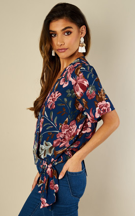 Floral Wrap Over Blouse by Oeuvre