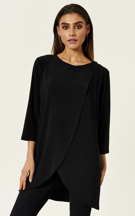 Black Wrap Top With D Ring by Bella and Blue Product photo
