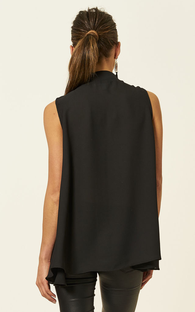 Black Sleeveless choker dipped back top by Bella and Blue