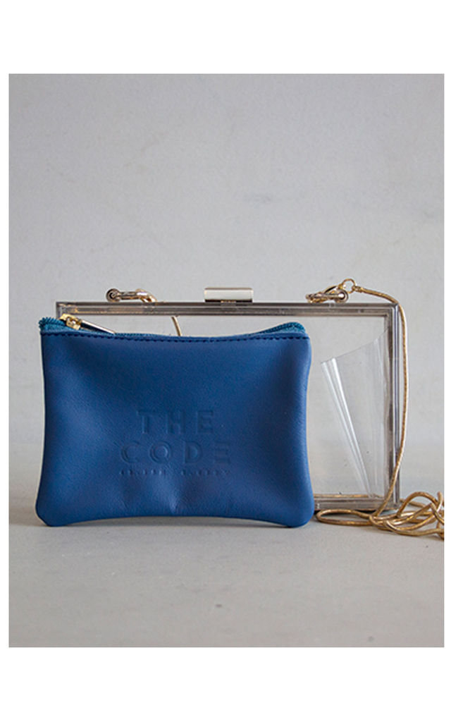 COMBO BLUE CLUTCH by THE CODE HANDBAGS