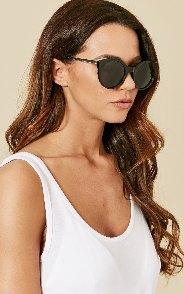 Black Cat Eye Sunglasses by Pieces