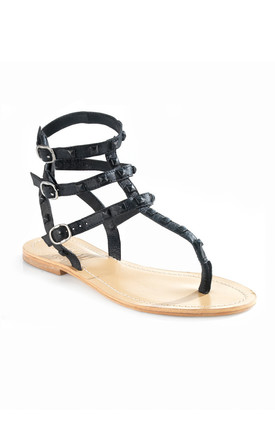 Studded Black Summer Sandals by Artemisia