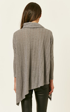 Grey Roll Neck Oversized Knit by Bella and Blue