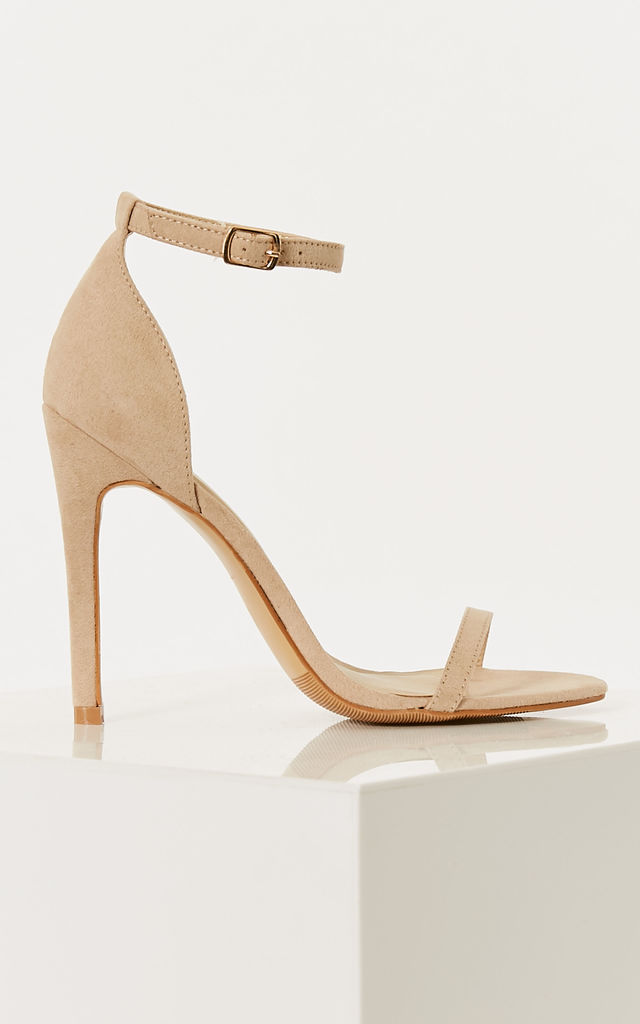 Nude Faux Suede Berely There Heels by Truffle Collection