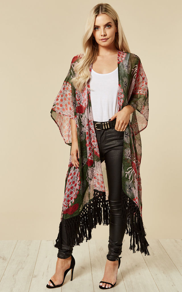 Under the Sea Kimono in Green & Red by Once Upon a Time