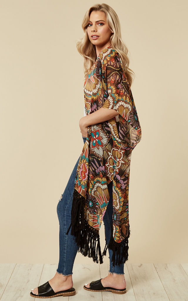 Saharan Winds Kimono in Brown by Once Upon a Time