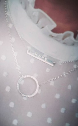 Sterling Silver Hope Neck Bar by DOLLYS Jewellery Design