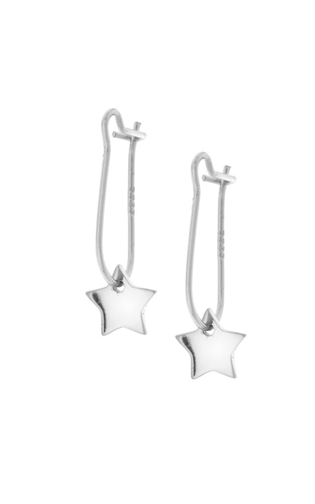 NORTH STAR HOOK EARRINGS - Silver by Dainty Edge Jewellery