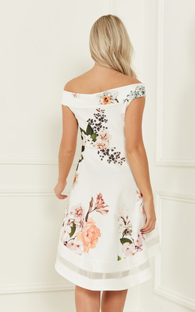 c7f9015e0c ... Floral off the shoulder skater dress by Lilah Rose