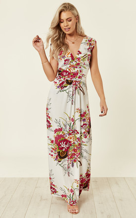 Floral White Maxi Summer Dress by Ruby Rocks Product photo