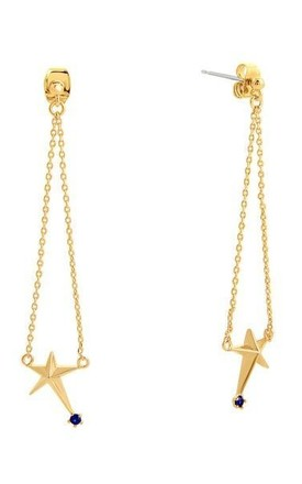 Star Long Drop Earrings Gold by DOSE of ROSE