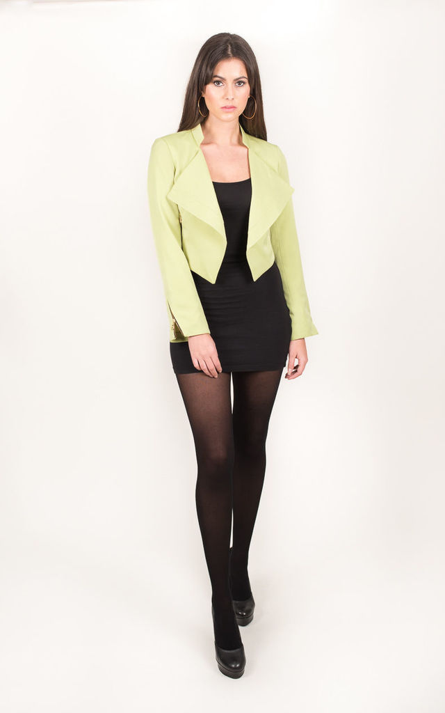 Fort Blazer Pastel Green High Collar by Christina Minta