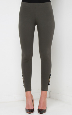 SJ BUCKLE ESSENTIAL LEGGINGS – KHAKI by So & Jo Boutique
