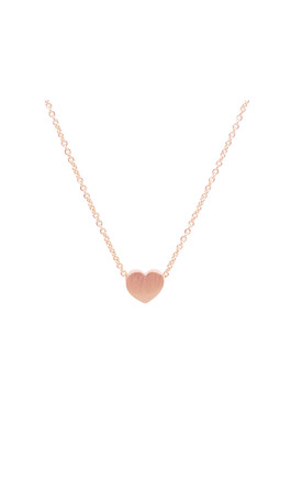 Heart Necklace In Rose Gold by White Leaf Product photo