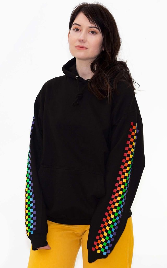 Rainbow Babe Crop Hoodie by Redressed